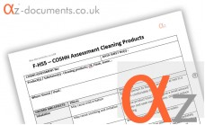 COSHH Assessment Cleaning Products