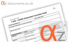 COSHH Assessment Correction Fluid