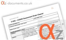 COSHH Assessment Drain Cleaner