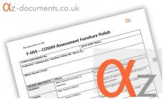 COSHH Assessment Furniture Polish