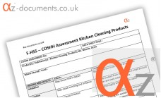 COSHH Assessment Kitchen Cleaning