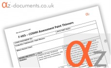 COSHH Assessment Paint Thinners