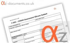 COSHH Assessment Silicone Sealant
