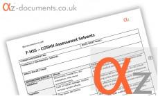 COSHH Assessment Solvents