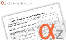 COSHH Assessment Toner Cartridges