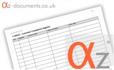 F-IMS51 Customer Complaints Register