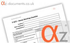 F-Q72 Home Working Checklist
