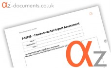 F-ENV3 Environmental Aspect Assessment Form