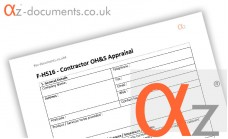 F-HS16 Contractor OHandS Appraisal Form