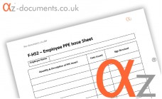 F-HS2 Employee PPE Issue Sheet