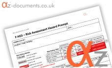 F-HS3 Risk Assessment Hazard Prompt Form