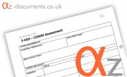 F-HS5 COSHH Assessment Form