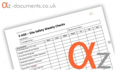 F-HS9 Site Safety Daily Checks Form