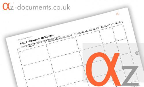 F-Q11 Company Objectives Form