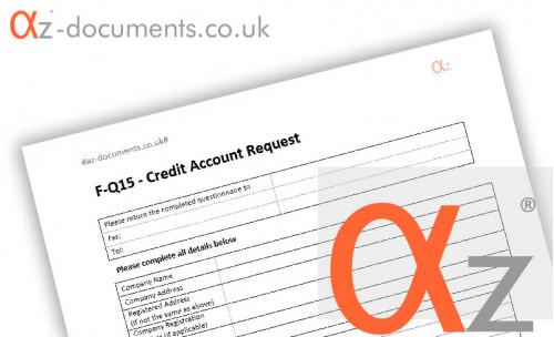 F-Q15 Credit Account Request Form