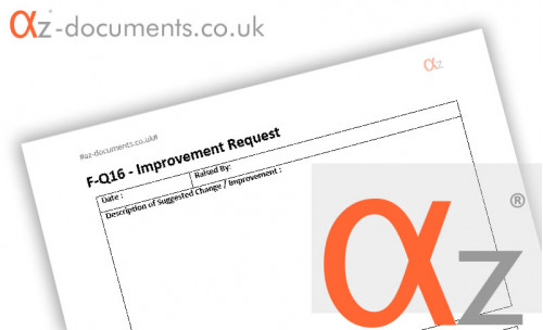 F-Q16 Improvement Request Form