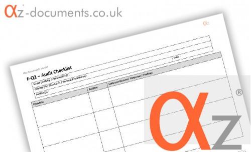 F-Q2 Audit Checklist Form