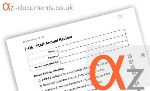 F-Q6 Staff Annual Review Form