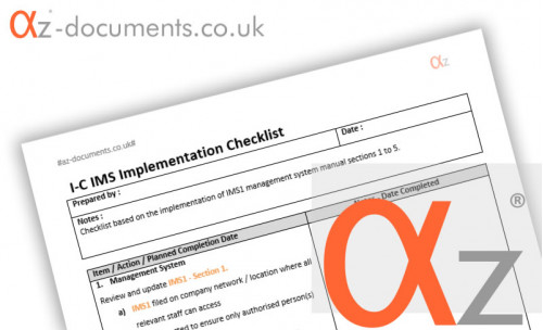 I-C-IMS Implementation Checklists