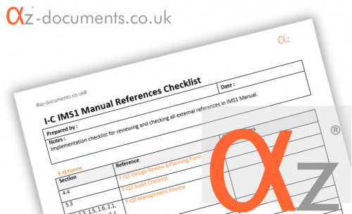 I-C-IMS1 Manual Checklists