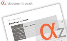 OP-0-0 Operational Procedure Blank Template