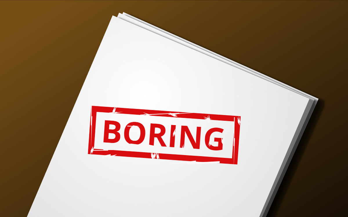 Business documentation is BORING!
